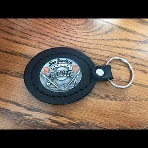 San Francisco Giants Leather & Metal Key chai NWT